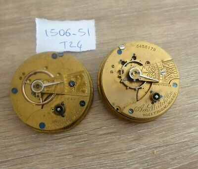 £9.99 • Buy 2 Antique Gents Pocket Watch Movements. Includes Waltham
