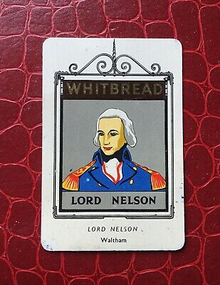£1 • Buy WHITBREAD INN SIGNS METAL 2nd  SERIES, No 21 The Lord Nelson, 1951