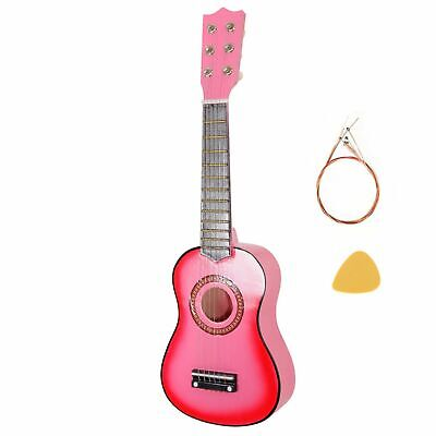 £16.99 • Buy 21  Childrens Kids Wooden Acoustic Guitar Musical Instrument Child Toy Gift Pink