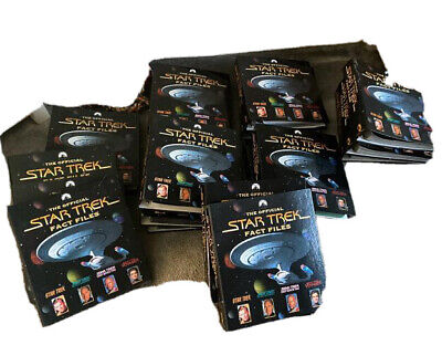 £15 • Buy The Official Star Trek Fact Files - 17 Folders All 304 Issues