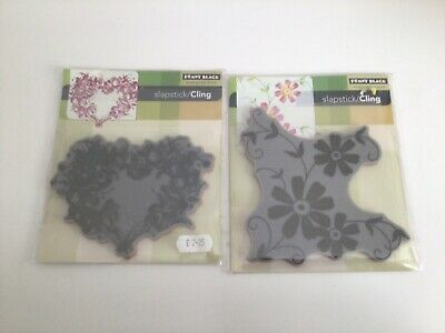 £4 • Buy Penny Black Slapstick Cling Stamps - Rose Heart & Posies - Floral Stamps