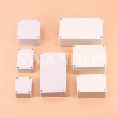£6.65 • Buy ABS Plastic Waterproof Electronic Project DIY Junction Box Enclosure Case 7 Size