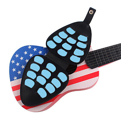 $ CDN7.05 • Buy Guitar Pick Holder Case For 22 Picks Collection Stand With Belt Blac ZC