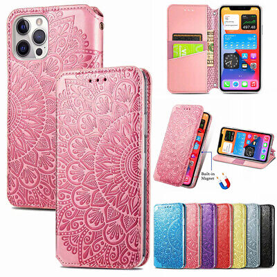 AU13.99 • Buy For IPhone 12 Pro Max 11 6s 7 8 Xr Magnetic Flip Leather Case Wallet Cards Cover