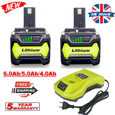£23.69 • Buy For RYOBI P108 Battery / Charger 18V 18 Volt One+ Plus High Capacity Lithium-Ion