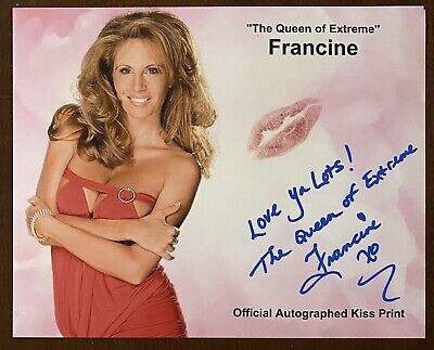 """$ CDN50.34 • Buy """"The Queen Of Extreme"""" Francine AUTO 8x10 Kiss Print W/ Proof ECW WWE"""