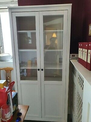 £14.50 • Buy Hemnes Ikea White Pine And Glass Display Cabinet, Good Condition