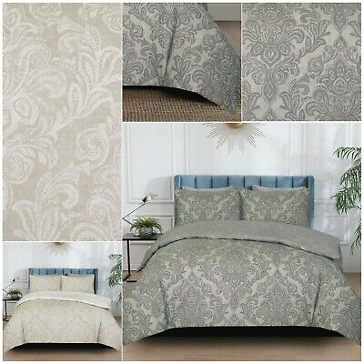 £17.99 • Buy Damask Printed Duvet Quilt Cover Bedding Sets With Pillowcases Double King Size