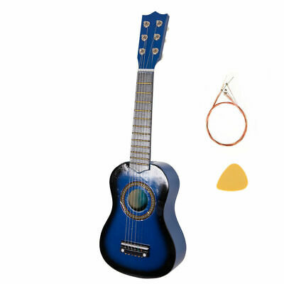 £12.59 • Buy 21  CHILDRENS KIDS WOODEN ACOUSTIC GUITAR MUSICAL INSTRUMENT CHILD TOY GIFT Blue