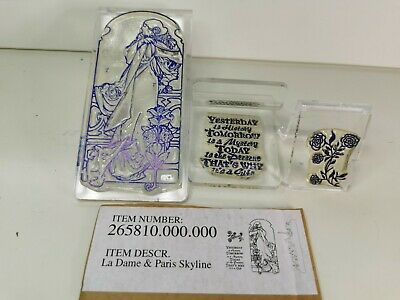 £6.99 • Buy Claritystamp La Dame 3  Peice Clear Mounted Stamps Kit Z Mounts