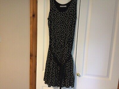 £4.50 • Buy Ladies Dresses Size 14 New Without Tags.Black ,with White Spots.Pleated Skirt .