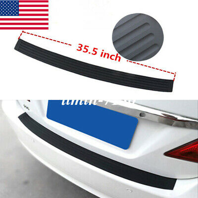 $17.84 • Buy Parts Accessories Car Rubber Stickers Sheet Rear Guard Bumper Panel Protector