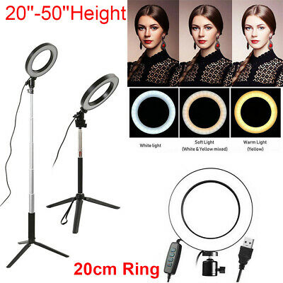 AU29.99 • Buy LED Ring Light With Tripod Stand Phone Holder Dimmable Studio Photo Makeup Lamp
