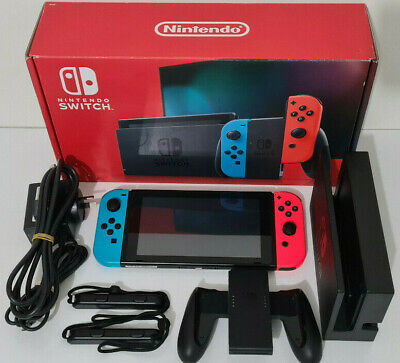 AU329.95 • Buy Nintendo Switch Video Game Console Red Blue V2 In Box Complete Hac-001