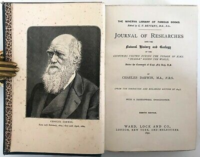 £7.50 • Buy  1890 Darwin JOURNAL OF RESEARCHES Geology Travel H.M.S Beagle Round The World