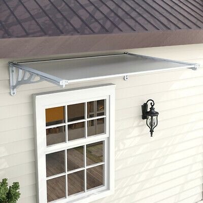 £72.95 • Buy Grey Door Canopy Awning Shelter Front Back Porch Outdoor Shade Patio Rain Cover