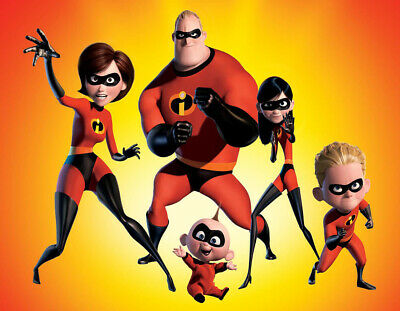 £1.29 • Buy Disney Pixar Movie The Incredibles Characters Iron On T-Shirt Transfer