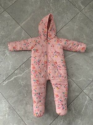 £8 • Buy Waterproof Joules Baby Girls Padded Puddlesuit Age 9-12 Months