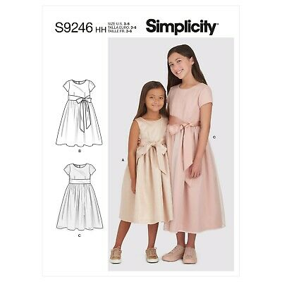 £9.45 • Buy Simplicity SEWING PATTERN S9246 Girls Communion/Bridesmaids Dresses 3-6 Or 7-14