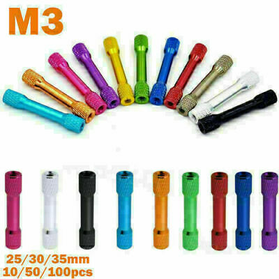 $5.87 • Buy HOT M3 25/30/35mm Knurled Aluminum Alloy Colorful Standoffs Round For FPV RC