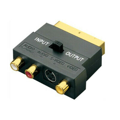 £3.73 • Buy Scart Switch , Gold Plated Mini Scart Plug In & Out To Triple 3 X RCA Phono