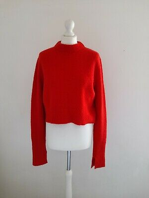 £29.99 • Buy Cos Woman Red Boiled Wool Stretchy Crop Jumper Size M 12 14 UK