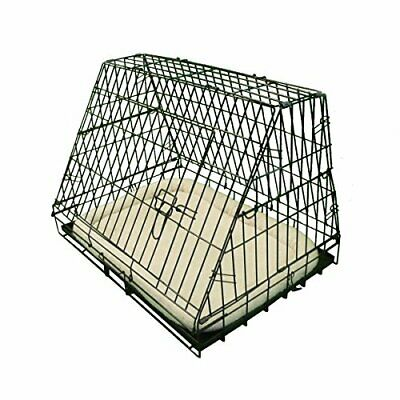 £43.99 • Buy Deluxe Sloping Puppy Cage Medium 30 Inch Black Folding Dog Crate