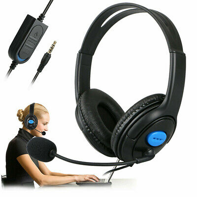 AU15.99 • Buy 3.5mm Gaming Headset Headphone With Microphone Volume Wired For PlayStation