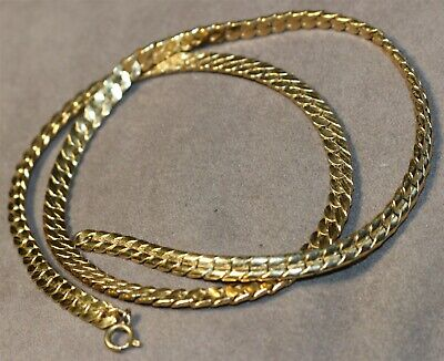 $ CDN6.85 • Buy Vintage In Seattle Lot#411 Chunky Gold Filled Signed Chain Necklace