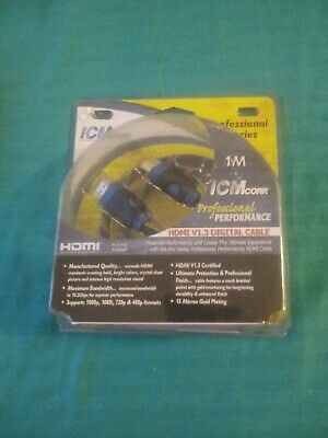 $7 • Buy ICM CorGold HDMI To M1-D Video Cable 1 Meter NEW Digital V1.3