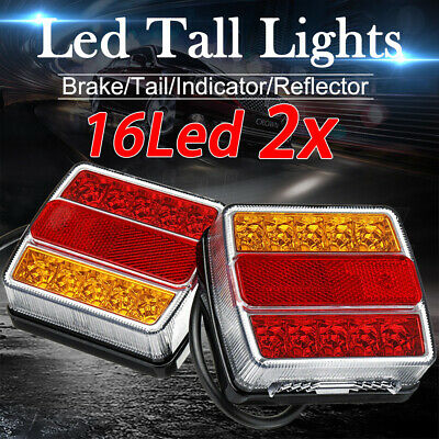 AU31.95 • Buy 2X Submersible Trailer Tail Lights 16 LED Stop Tail Lights Kit Boat Truck Lamp
