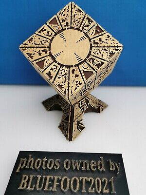 £39 • Buy Hellraiser Brown & Gold Lament Configuration Puzzle Box + Deluxe Display Stand