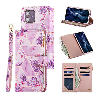 £7.95 • Buy Zip Coin Purse Card Slot Flip Leather Wallet Phone Cover Case For IPhone&Samsung