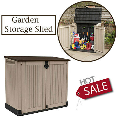 £175.75 • Buy Keter Store It Out MAX Garden Lockable Storage Box XL Shed Outside Bike Bin Tool