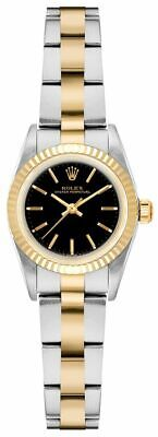 $ CDN8958.13 • Buy Rolex Oyster Perpetual 6719 Automatic Black Dial Two Tone 25mm Women's Watch