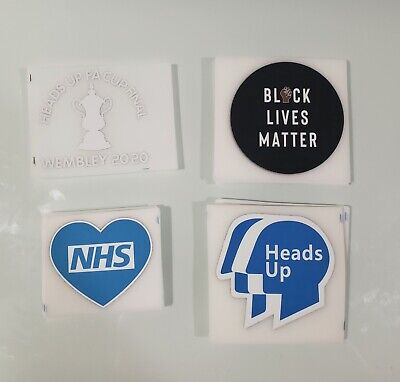 £15 • Buy Heads Up Final Wembley Fa Cup 2020 Heatpress Arsenal Match Detail Patches Bls
