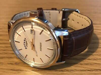 £55 • Buy Rotary Avenger Gents Dress Watch - Rare 36mm Version - Box - Papers - Beautiful