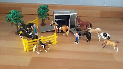 £7 • Buy Toy Horses, Riders, Trailer, Trees, Fencing. (like Breyer/Schleich.)