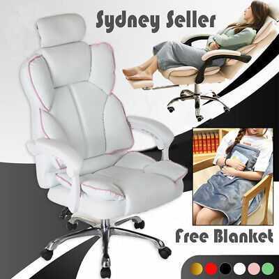AU139.99 • Buy Adjustable Gaming Chair Office Executive Computer Racing Footrest Recliner AU