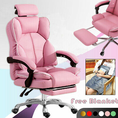 AU178.99 • Buy Ergonomic High Back Computer Office Chair PU Leather Gaming Racing Recliner Seat