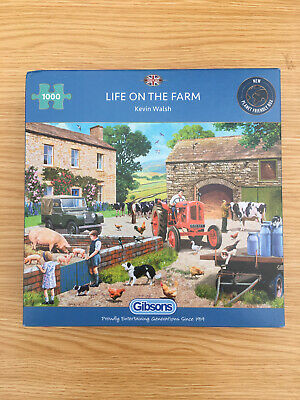 £3.90 • Buy Gibsons 1000 Piece Jigsaw Puzzle Life On The Farm. In Good Condition . Complete