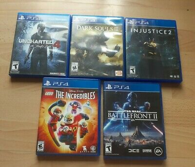 AU26.71 • Buy Lot Of 5 Preowned, Clean Ps4 Games Lego Uncharted Star Wars Dark Souls Injustice