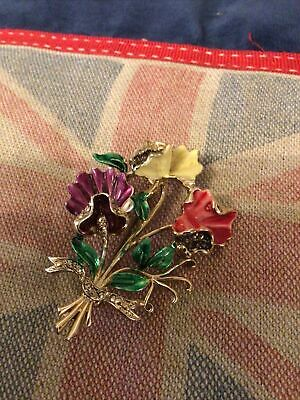 £5 • Buy Signed Exquisite Marcasite Brooch Beautiful