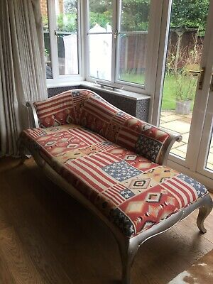£38 • Buy Silver Chaise Longue With Andrew Martin 'Glory' Fabric