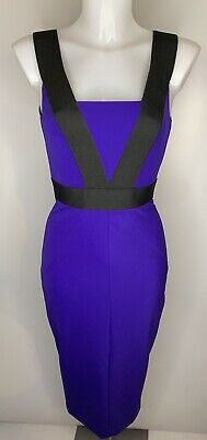 £38 • Buy TED BAKER • Purple Strappy Bodycon Pencil Midi Editth Dress • NEW • Size 6