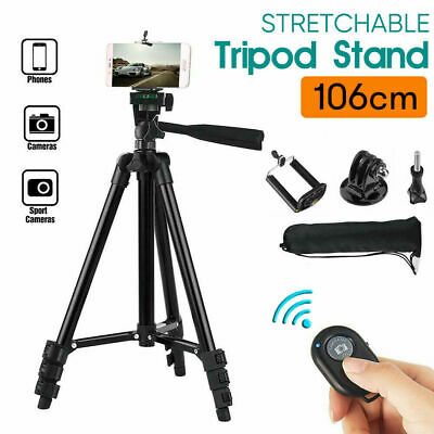 AU13.50 • Buy Professional Camera Tripod Stand Mount Remote + Phone Holder For IPhone Samsung