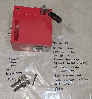 $645 • Buy Emco PCMill 55 CNC Mill BT30 Spindle Quick Change Tool Holder F19U
