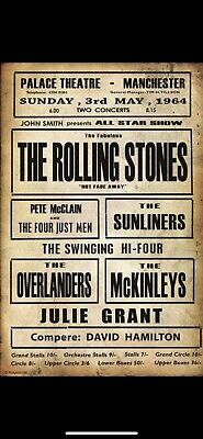 £2 • Buy The Rolling Stones Concert Poster A5 Vintage