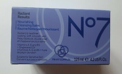 £9.49 • Buy Boots No7 Radiant Results Nourishing Cleansing Balm Muslin Cloth 125ml Boxed