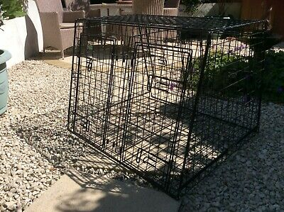 £30 • Buy Barjo double Entry Heavy Duty Dog Cage D32 W36 H27  Lid D20 W 36 (inches)